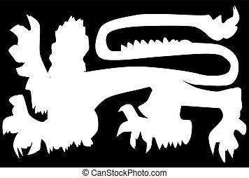 British Lion Silhouette
