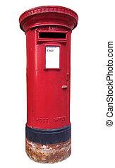 British mailbox - Isolated British kind of mailbox