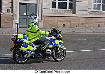 British motorcycle policeman