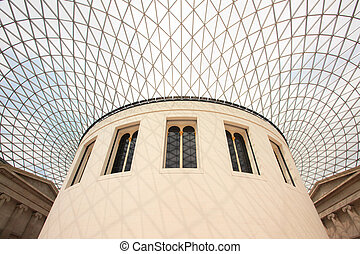 British Museum Architecture - LONDON - April 16: British...