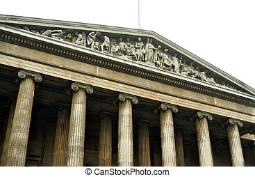 british museum - British Museum main entrance architecture...