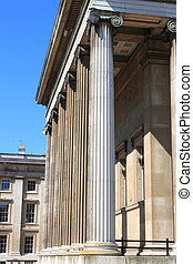 British Museum columns in London (UK)