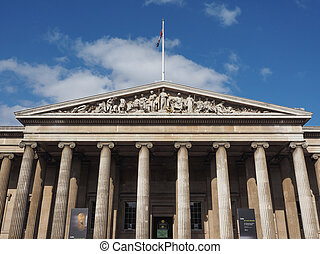 British Museum in London - LONDON, UK - SEPTEMBER 28, 2015:...