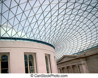 British Museum London - Great Court at the British Museum,...