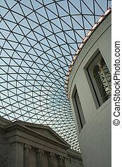 British Museum - The impressive lattice skylight in the...