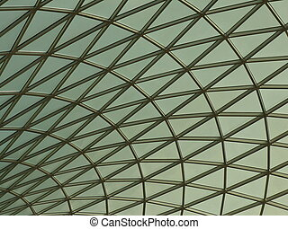 British Museum roof - British, Museum, roof,london