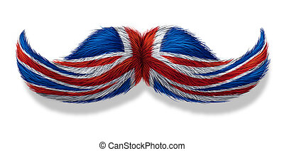 British Mustache Symbol - British mustache symbol with the...