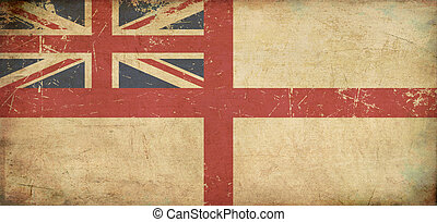 British Naval Ensign Flat Aged - Illustration of an rusty,...