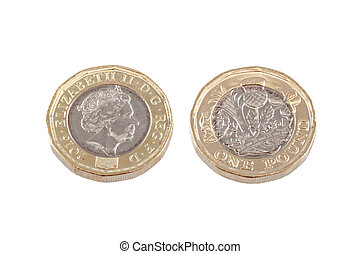 British new 1 pound coin. - The new British 1 coin was ...
