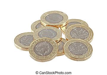 British new £1 pound coin. - The new British one pound coin ...