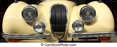 British Oldtimer  - the front of an oldtimer Jaguar XK 120