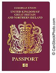British Passport - The front cover of a new british passport