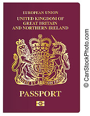 British Passport - The front cover of a new british passport