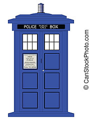 British Police Box - A typical british police box isolated...