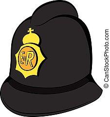 British police helmet icon cartoon