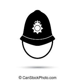 British police helmet icon