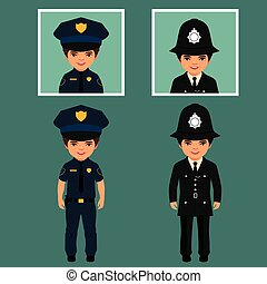 vector police officers
