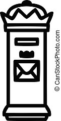 British postbox icon