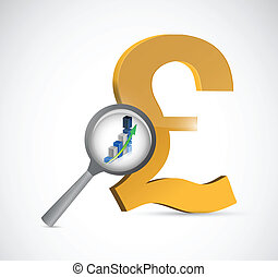 british pound currency review illustration design