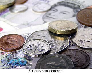 Pounds - British Pounds banknotes and coins