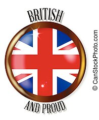 British Proud Flag Button