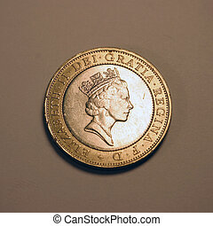 Elizabeth II - British queen Elizabeth II on coin.
