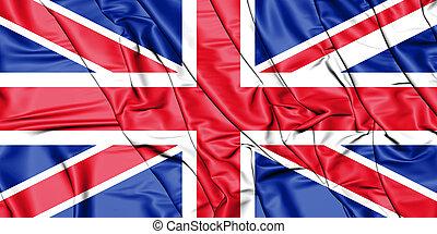 British Raj Red Ensign - 3D Flag of the United Kingdom. 3D ...