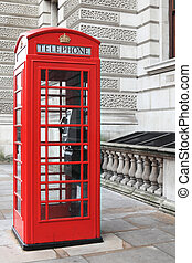 British red phone box on a London street