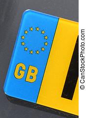 British registration plate