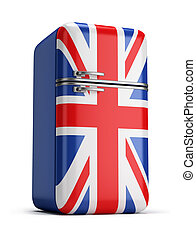 British retro fridge - retro refrigerator with the British...