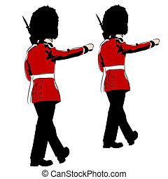 British Royal Guards - An image of British royal guards.
