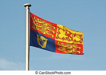 British royal standard flag on flagpole - The Traditional...