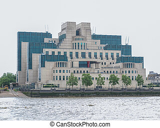 British Secret Service buidling - SIS MI6 headquarters of ...