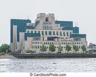 British Secret Service buidling - SIS MI6 headquarters of...
