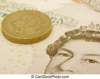 British Sterling pound currency - legal tender of the United Kingdom - banknotes and coins