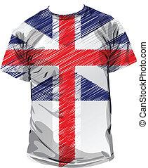 British tee, vector illustration