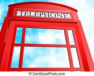 British Telephone - British telephone booth