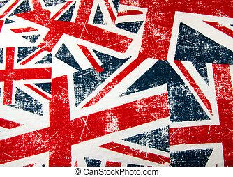 Union Jack flag montage Background - British Union Jack flag...