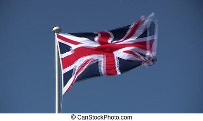 British Union Jack flag. - The British Union Jack flag...