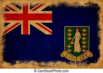 British Virgin Islands grunge flag