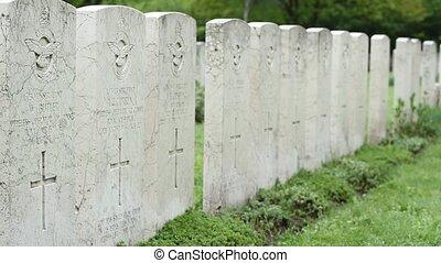 British WWII Pilots Memorial - Pan shot of British WWII...