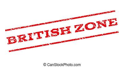 British Zone Watermark Stamp