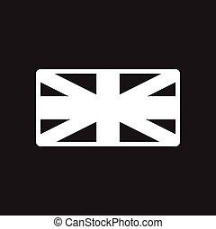 brits verslappen, black , modieus, witte , pictogram