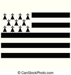 Brittany flag vector - Vector illustration flag Brittany...