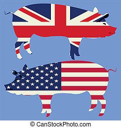 Brittish and American