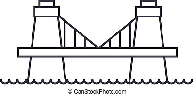 brittisk, bro, vektor, fodra, ikon, underteckna, illustration, fond, editable, slaglängder