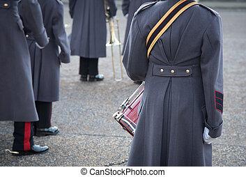 brittisk, kungliga vakter, london