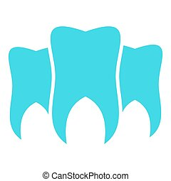 Brittle tooth logo icon, flat style.