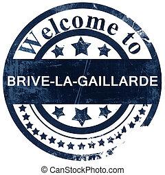 brive-la-gaillarde stamp on white background