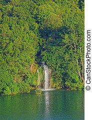 brljan, tó, henyél, kanyon, krka, vízesés, folyó, kilátás